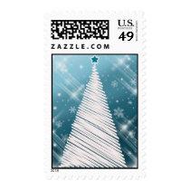 Blue Christmas tree postage