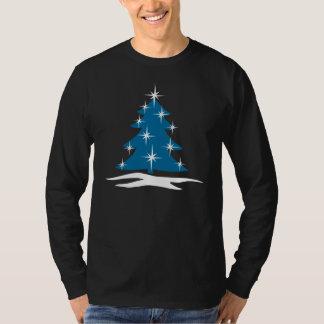 Blue Christmas Tree Shirt Classic Holiday Tree Top