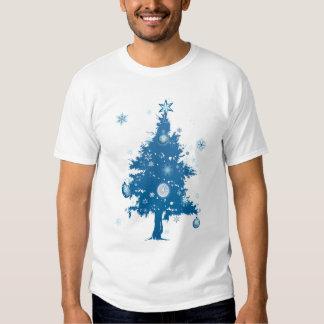Blue Christmas Tree T Shirt