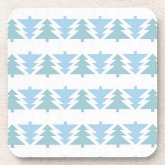 Blue Christmas Trees Coasters