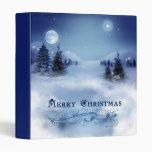 Blue Christmas Vinyl Binders