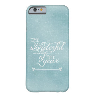 Blue Christmas with Quote Barely There iPhone 6 Case
