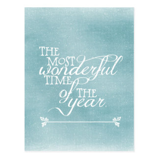 Blue Christmas with Quote Postcard