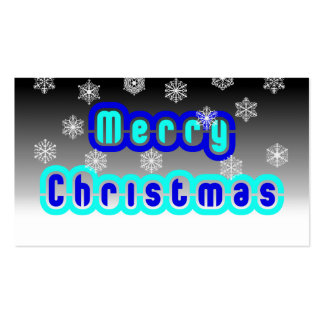 Blue Christmas With Snowflakes Business Card