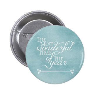 Blue Christmas with Words Button