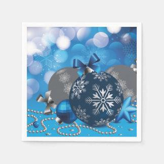 Blue christmassy Paper Napkins