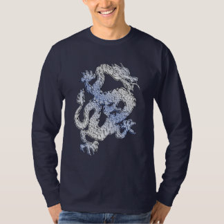 Blue Chrome like Dragon Carbon Fiber Style T-Shirt