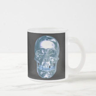 Blue Chrome Skull Mug