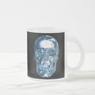 Blue Chrome Skull Mug