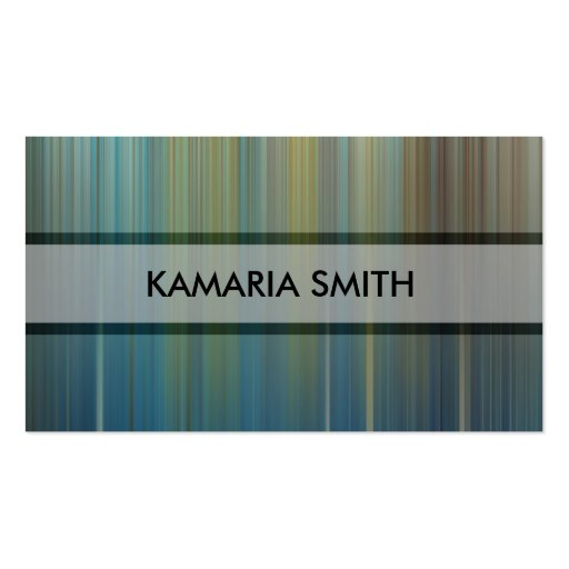 Blue Chrome Stripes Standard Size Business Card