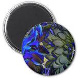 Blue Chrysanthamums Fridge Magnets
