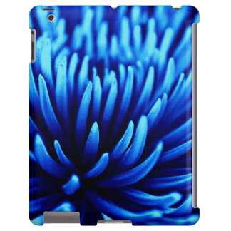 Blue Chrysanthemum flower iPad Case
