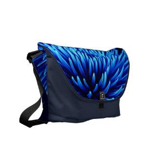 Blue Chrysanthemum flower RIckshaw messenger bag