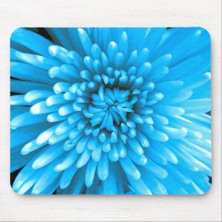 Blue Chrysanthemum Mouse Pad