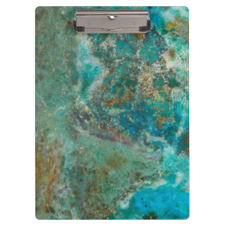 Blue Chrysocolla Stone Image Clipboard