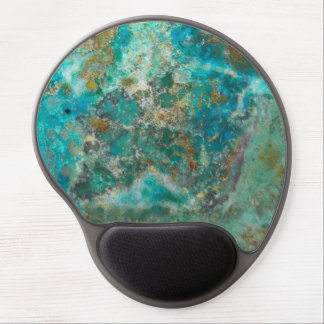 Blue Chrysocolla Stone Image Gel Mouse Pad