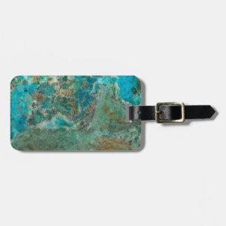 Blue Chrysocolla Stone Image Luggage Tag