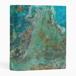 Blue Chrysocolla Stone Image Mini Binder