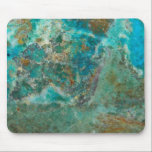 """Blue Chrysocolla Stone Image Mouse Pad<br><div class=""""desc"""">Liven up your computer work space with this standard mouse pad that features the beautiful,  turquoise blue colors of Chrysocolla mineral stone. A great gift idea for the rock hound! To see other products we have to offer,  click on the Northwestphotos store link.</div>"""