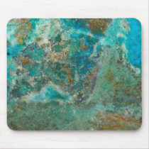 Blue Chrysocolla Stone Image Mouse Pad
