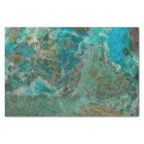 Blue Chrysocolla Stone Image Tissue Paper