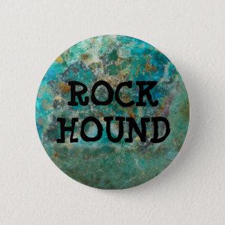 Blue Chrysocolla Stone Rock Hound Button