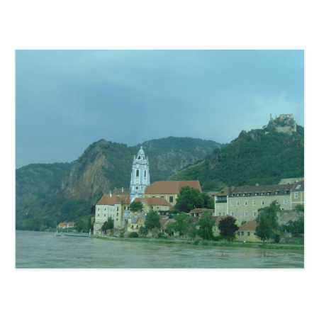 Blue Church in Dürnstein Post Card