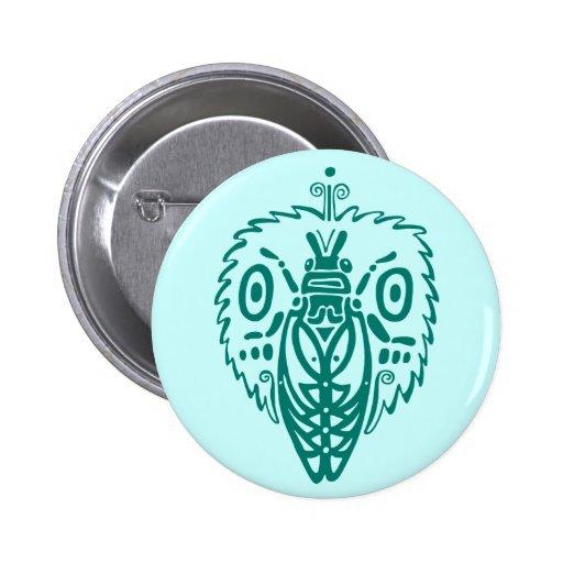 Blue Cicada Button