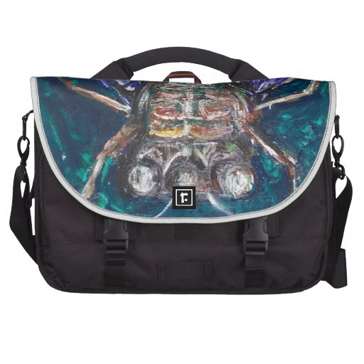 Blue Cicada (Surreal Realism insect painting) Laptop Bag