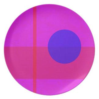 Blue Circle 2 Dinner Plates