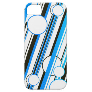 Blue Circle and Stripes graph IC phone covers