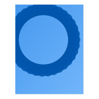 blue circle blue background postcard