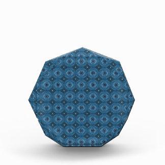 Blue Circle Diamond Grid Pattern Acrylic Award