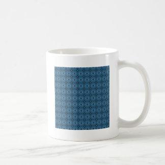 Blue Circle Diamond Grid Pattern Coffee Mug