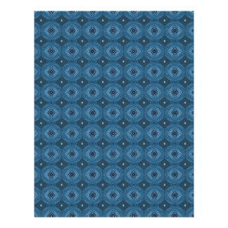 Blue Circle Diamond Grid Pattern Letterhead