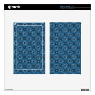 Blue Circle Diamond Grid Pattern Skin For Kindle Fire