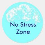 blue circle, No Stress Zone Sticker