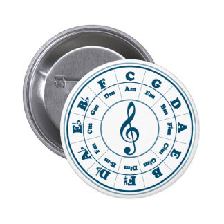 Blue Circle of Fifths 2 Inch Round Button