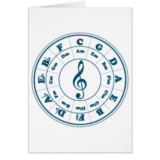 Blue Circle of Fifths Greeting Card