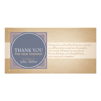 Blue Circle P Square Tags Sympathy Thank you P Card
