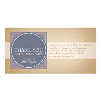 Blue Circle P Square Tags Sympathy Thank you P Card