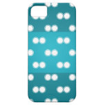 Blue circle pattern 3 tripes Iphone 5s cases iPhone 5/5S Cover
