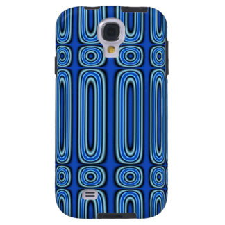 Blue Circle Pattern Galaxy S4 Case