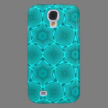 Blue Circle pattern Samsung Galaxy S4 Case