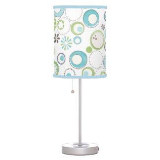 blue circle patterns table lamp