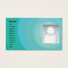 Blue Circle Shades - Business Business Card at Zazzle