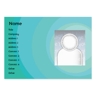 Blue Circle Shades - Chubby Large Business Card