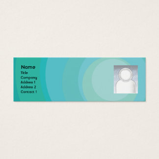 Blue Circle Shades - Skinny Mini Business Card