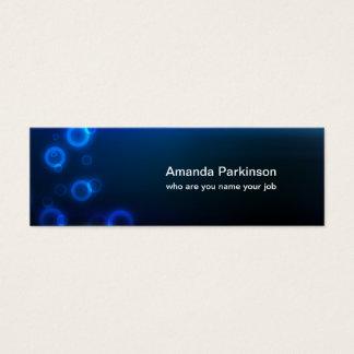 blue circle skinny business card