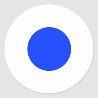 Blue Circle Square CircleTrans-3 The MUSEUM Zazzle Stickers